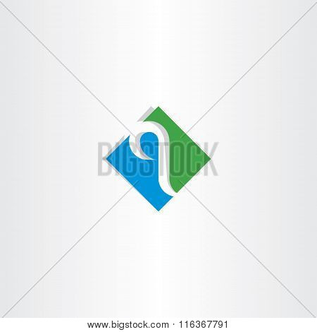 Green Blue Letter Q Logo Logotype Vector Icon
