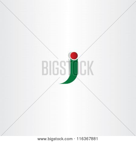 Green Red Logo J Letter J Icon Vector