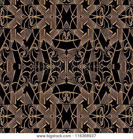 Modern Arabesque Seamless Textile Pattern