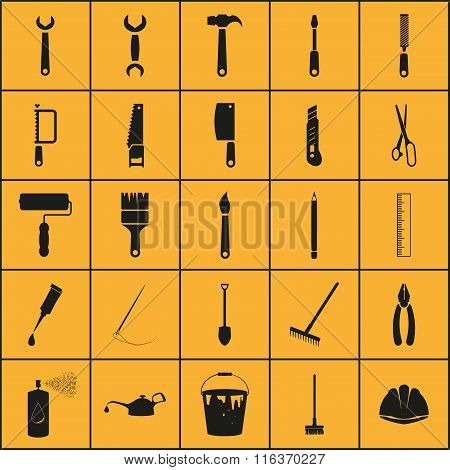 Simple Set Of Tools Related Vector Icons