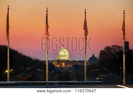 State Capitol Building In Washington, Dc