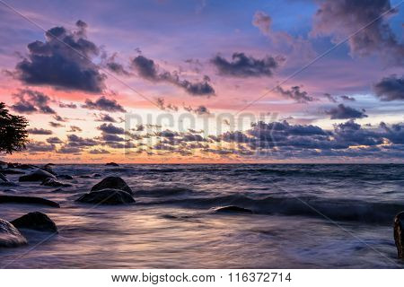 Sunset At Beach In Thailand