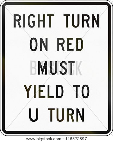 United States Mutcd Road Sign - Right Turn On Red Must Yield
