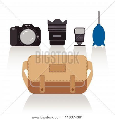 basic things in camera bag