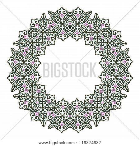 Circular Pattern In Arabic Style