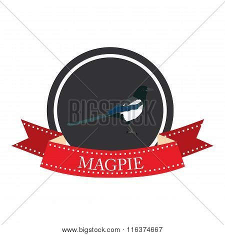 Flat Icon Magpie