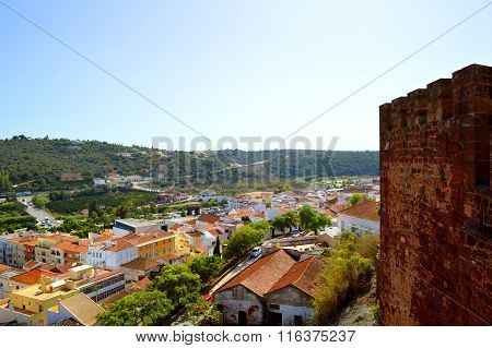 Silves view from the historical castle in the Algarve, Portugal