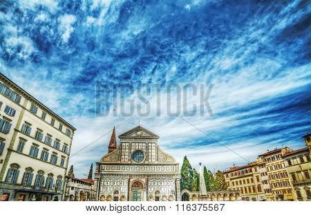 Santa Maria Novella Square In Florence