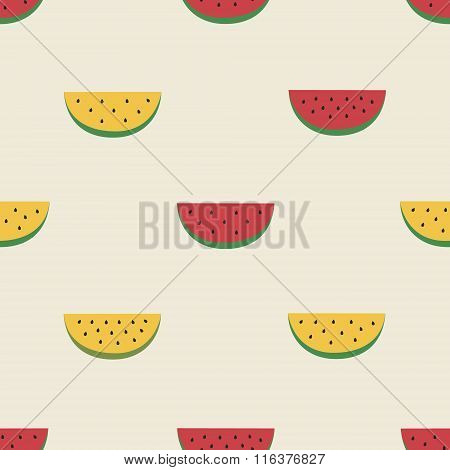 pattern with watermelons