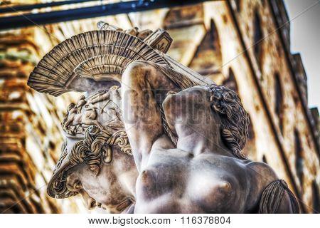 Ratto Di Polissena Statue In Loggia De Lanzi