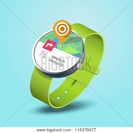 map application on smart watch wearable device