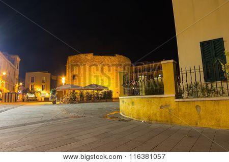 Largo San Francesco In Alghero, Italy