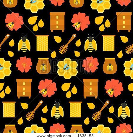 Black Honey Seamless Texture