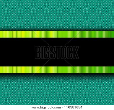Background with green elements over interesting vector texture.