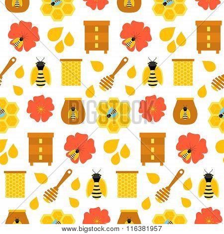 Honey Seamless Texture Over White