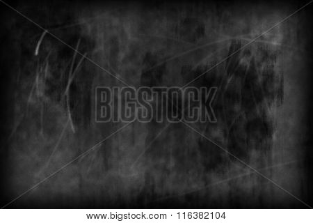 Chalkboard Texture - Old Scratched And Smudged Blackboard