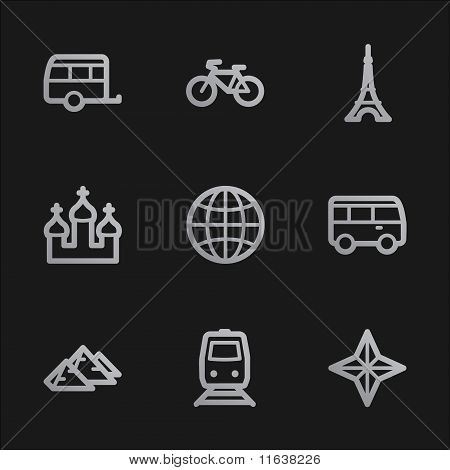 Travel Web Icons Set 2, Grey Mobile Style