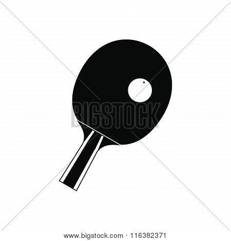 Racket for playing table tennis icon