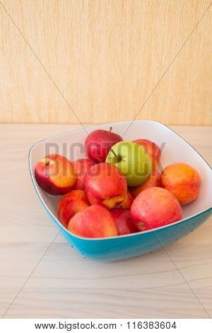 Fruits in the bown on table