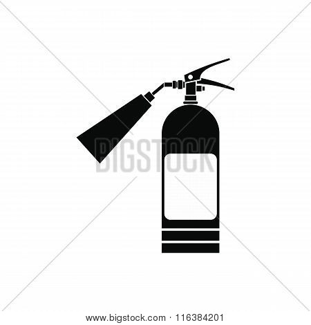 Fire extinguisher black simple icon