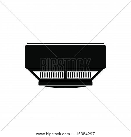 Smoke detector black simple icon