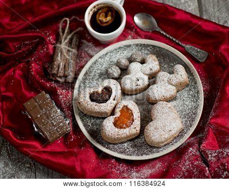 Valentine Cupcakes With Jam