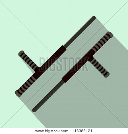 Tonfa weapon flat icon