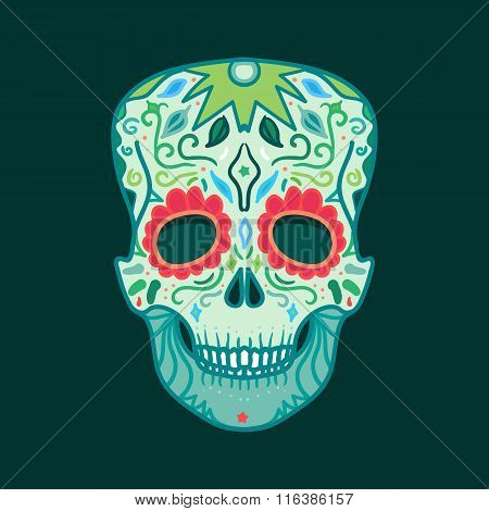 Mexican Detailed Skull