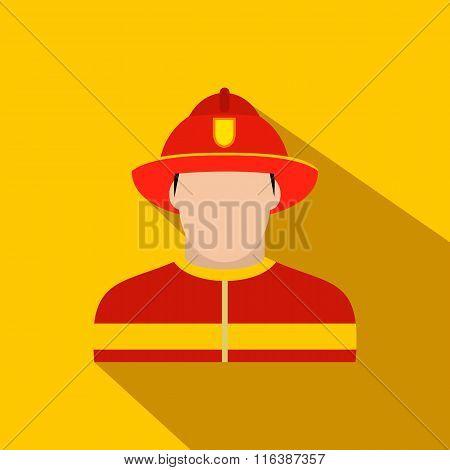 Fireman flat icon