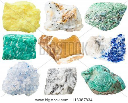 Collection Of Different Mineral Rocks And Stones