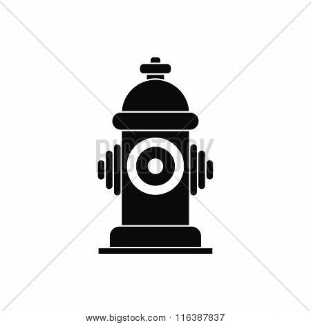 Fire hydrant black simple icon