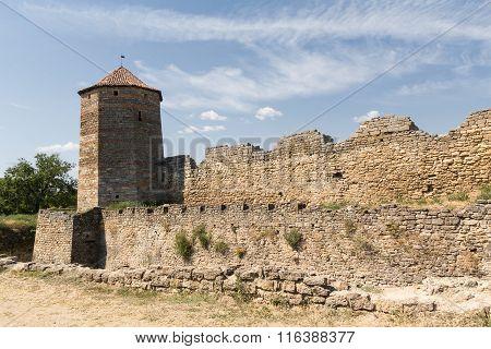 Tower Of An Ancient Fortress. Belgorod-dniester, Ukraine