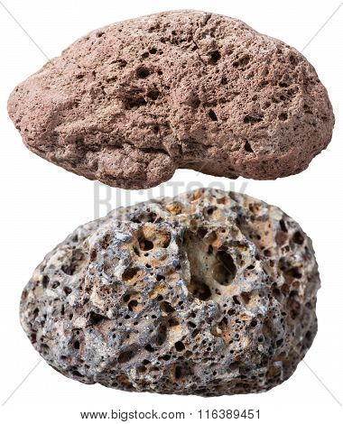 Two Pebbles From Pumice Natural Volcanic Stones