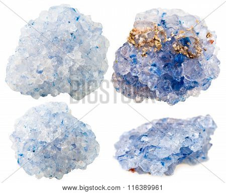 Set Of Celestine (celestite) Mineral Gem Stones
