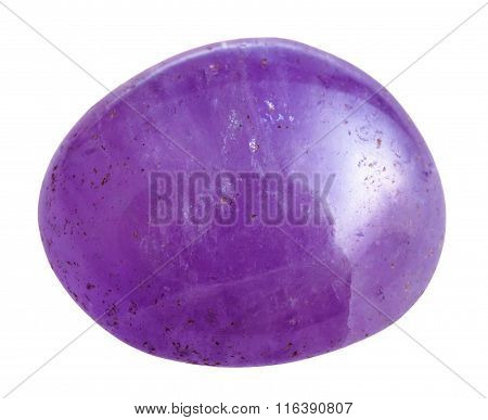 Tumbled Amethyst Gemstone Isolated
