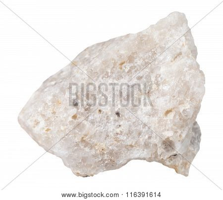 Piece Of Conglomerate Mineral Stone Isolated