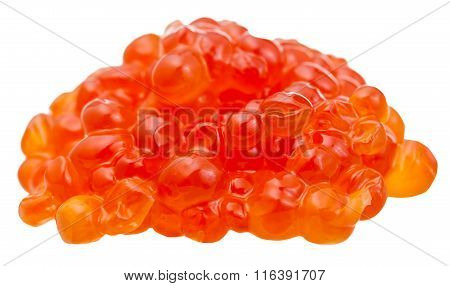 Pile Of Trout Fish Salty Red Caviar Isolated