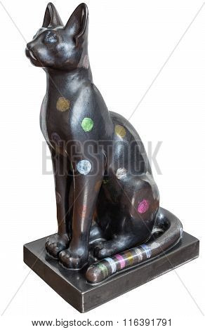 Cat Sculpture From Ancient Egypt Isolated