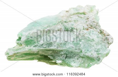 Green Talc Mineral Stone Isolated On White