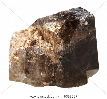 Morion (brown Smoky Quartz) Mineral Stone Isolated