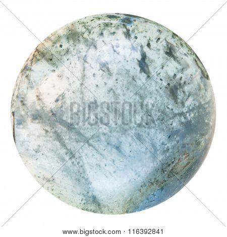 Cabochon From Aquamarine (blue Beryl) Mineral Gem