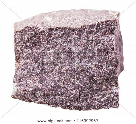 Alunite Mineral Stone Isolated On White
