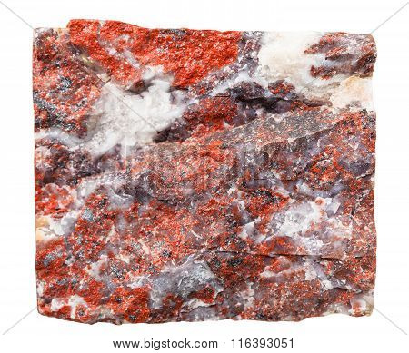 Jasper Mineral Stone Isolated On White