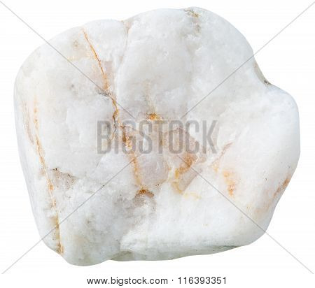 Pebble From White Marble Natural Mineral Stone