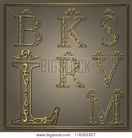 Monogram Design Elements, Graceful Template. Calligraphic Elegant Line Art Logo Design. Luxury Lette