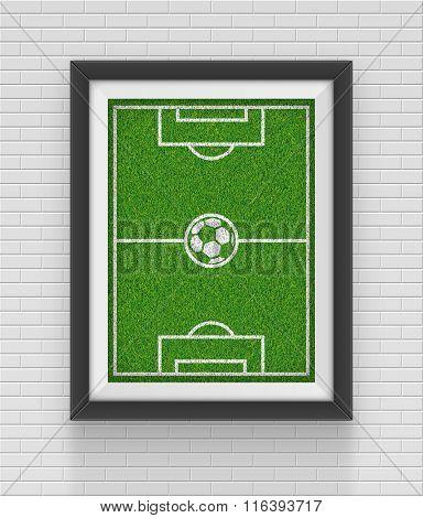 Realistic frame. Soccer concept. Element for your design. Vector illustration eps10