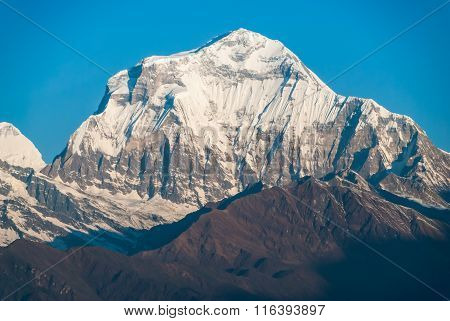 Dhaulagiri Peak In The Nepal Himalaya