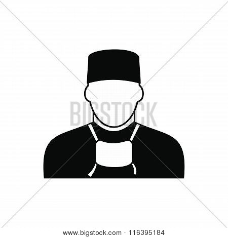 Doctor black simple icon