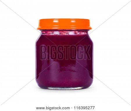 Berry Jam Isolated On White Background