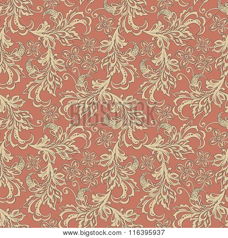 vintage floral seamles pattern.